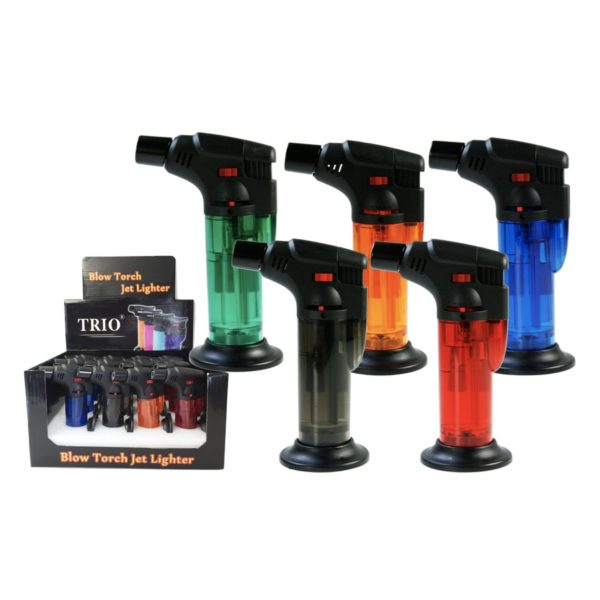 Clear Stand Up Blow Torch Jet Lighter x2