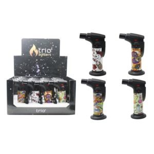 ATTITUDE Stand Up Blow Torch Jet Lighter x2