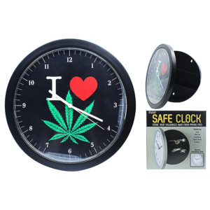 I Love Weed Safe Clock