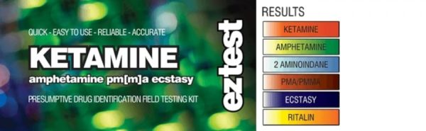Ketamine Test Kit for Ecstasy (MDMA), Ketamine, PMA