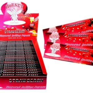Hornet Rolling Papers King Size - Strawberry Flavour