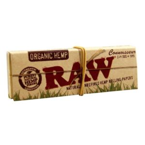 RAW Organic Rolling Papers Connoisseur 1 1/4 + Filter Tips