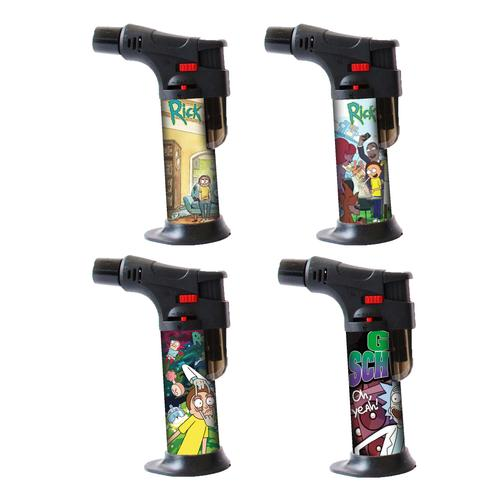 Refillable Blow Torch Jet Lighter Rick Morty